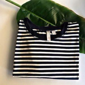 ASOS striped blue long sleeve shirt